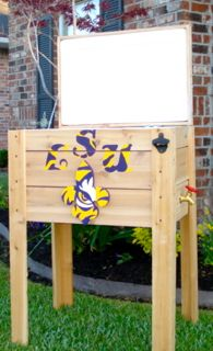 Handmade Coolers LSU Tigers ice chest 1