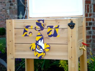 Handmade Coolers LSU Tigers ice chest 2