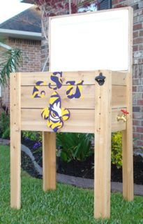 Handmade Coolers LSU Tigers ice chest 5
